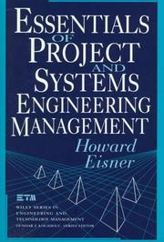 Cover of: Essentials of project and systems engineering management
