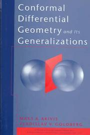 Cover of: Conformal differential geometry and its generalizations