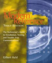 Cover of: The complete modem reference