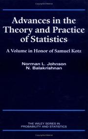 Cover of: Advances in the theory and practice of statistics
