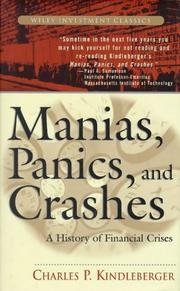 Cover of: Manias, panics, and crashes | Charles Poor Kindleberger