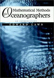Cover of: Mathematical methods for oceanographers