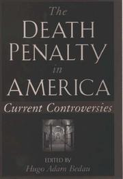 The death penalty in America by Hugo Adam Bedau