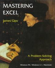 Cover of: Mastering Excel: a problem-solving approach