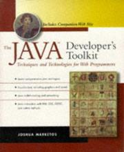 Cover of: The Java developer's toolkit