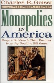 Cover of: Monopolies in America