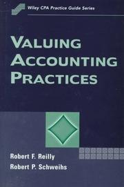 Cover of: Valuing accounting practices