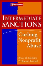 Cover of: Intermediate sanctions: curbing nonprofit abuse