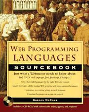 Cover of: Web programming languages sourcebook