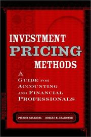 Cover of: Investment Pricing Methods | Patrick Casabona