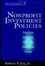 Cover of: Nonprofit investment policies | Robert P. Fry