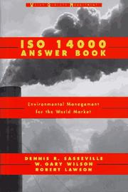 Cover of: ISO 14000 answer book