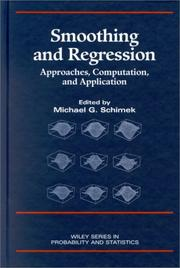 Cover of: Smoothing and Regression | Michael G. Schimek