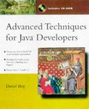 Cover of: Advanced techniques for Java developers | Daniel J. Berg