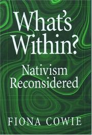 Cover of: What's within? by Fiona Cowie