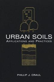 Cover of: Urban soils