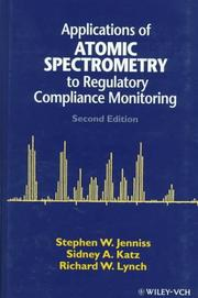 Cover of: Applications of atomic spectrometry to regulatory compliance monitoring