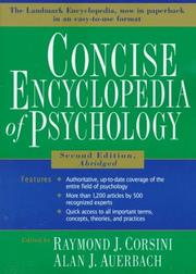 Cover of: Concise encyclopedia of psychology |
