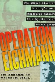 Cover of: Operation Eichmann