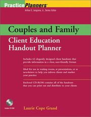 Cover of: Couples and family client education handout planner