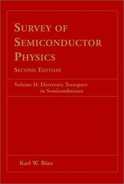 Cover of: Survey of semiconductor physics | K. W. BoМ€er