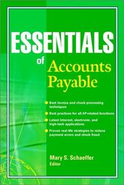 Cover of: Essentials of Accounts Payable