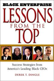 Cover of: Black Enterprise Lessons from the Top | Derek T. Dingle