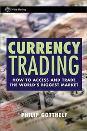Cover of: Currency trading