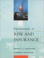 Fundamentals of risk and insurance by Emmett J. Vaughan