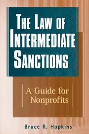 Cover of: The law of intermediate sanctions: a guide for nonprofits