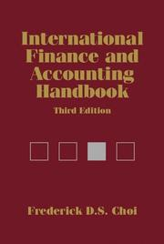 Cover of: International Finance and Accounting Handbook