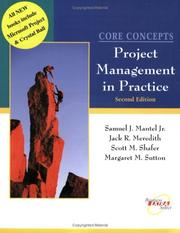 Cover of: Project management in practice