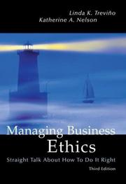 Cover of: Managing business ethics