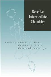 Cover of: Reactive intermediate chemistry