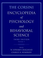 Cover of: The Corsini encyclopedia of psychology and behavioral science