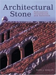 Cover of: Architectural stone