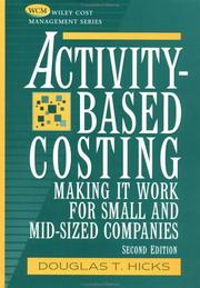 Cover of: Activity-based costing | Douglas T. Hicks