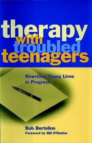 Cover of: Therapy with troubled teenagers