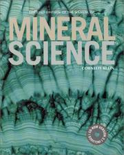 Cover of: Manual of Mineral Science, 22nd Edition (Manual of Mineralogy)