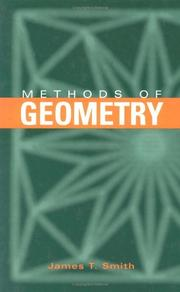 Cover of: Methods of geometry | James T. Smith