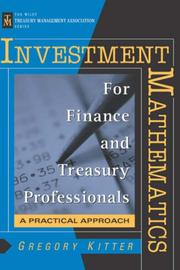 Cover of: Investment mathematics for finance and treasury professionals