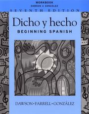 Cover of: Dicho y hecho, Workbook