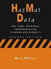 Cover of: HazMat Data: For First Response, Transportation, Storage, and Security
