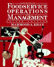Cover of: Concepts of Foodservice Operations and Management