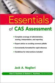 Cover of: The essentials of CAS assessment