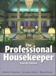 Cover of: The professional housekeeper