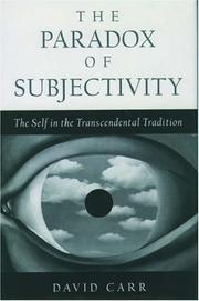 Cover of: The paradox of subjectivity | Carr, David