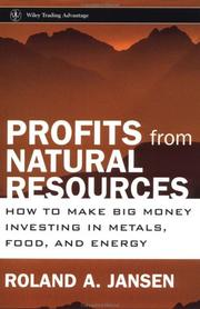Cover of: Profits from Natural Resources | Roland A. Jansen