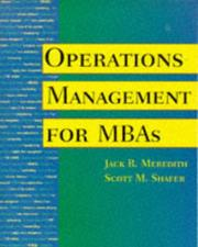 Cover of: Operations management for MBAs