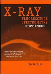 Cover of: X-ray fluorescence spectrometry